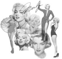 Marilyn Monroe Brush Set by jemaniac