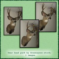 Deer Head Pack by GreenEyezz-stock