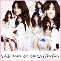 SNSD TaeYeon Jan 2014 Png Pack by zhengjiahui