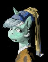 Lyra with the Pearl Earring by kevinsano