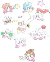 Kirby Hats 1, SSBB-moves by CyberMaroon