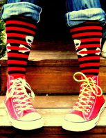 red converse by allstars