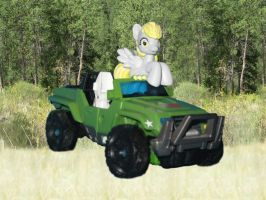 And Then Derpy Found a Jeep Sure It's A Jeep WIP by Scavgraphics