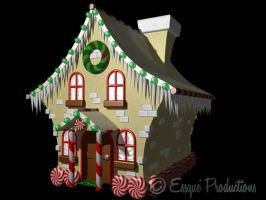 Gingerbread Candy House by Milomax27