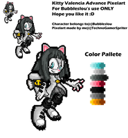 .::Gift::. Kitty Valencia Advance Pixelart by TechnoGamerSpriter