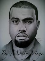 Drawing Kanye West by MontyKVirge