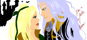 CV graffiti - Alucard x Maria by beautifully-twisted