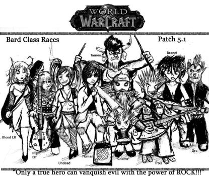 New class: Bard by Blondelover