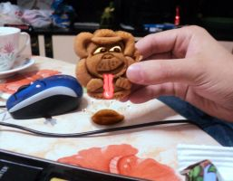 Monkey cookie by Makinita