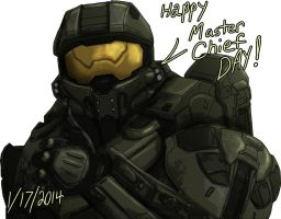 Happy Master chief Day 2014! by Guyver89
