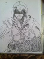 Assassians Creed Ezio Drawing by FrostBurned-Soul