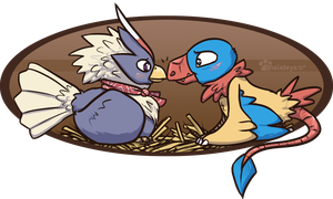PKMNN - Bird Love by Thalateya