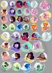 Steven Universe buttons and stickers design by Analostan