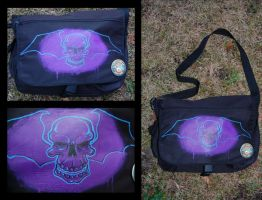 Skull Bat Messenger Bag by grimcinder