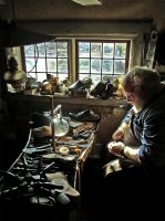 Shoemaker at Skansen by misphred