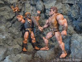 Figthing 3d printed Cavemen C by hauke3000