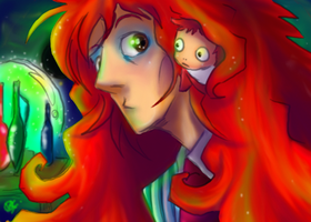 Ponyo and Dad -- Quickie by fellow-traveller