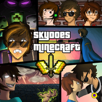 SkyDoesMinecraft Poster Fan Art by DopierToast15