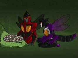 Skywarp and Thrust Buggies by wachey