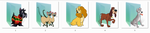 Lady and the Tramp Folder Icons by Ginokami6
