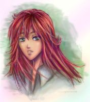 Kurama -Sketch gone CG- by AStudyInScarlet