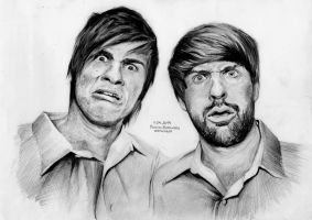 SMOSH / Anthony Padilla and Ian Hecox by akloiram