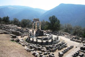 Greece, Delphi Athena temple by elodie50a