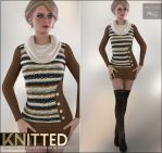 Knitted for Tunic and Boots by cosmosue