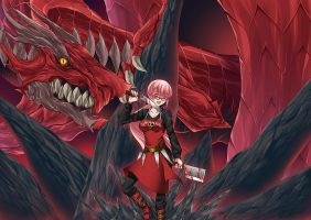 Commission Girl and Dragon by raieltoo 2!! by un4lord