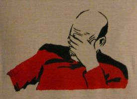 Captain Picard Facepalm by Ali-Radicali