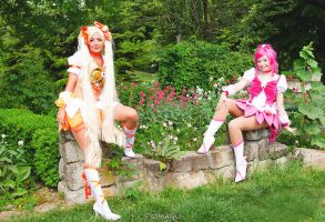 Cure Blossom And Cure Sunshine by NikitaCosplay