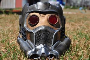 Star Lord mask FRONT by drummerkidd12