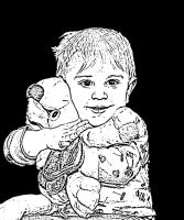 Child with Stuffed Animal - Edited by CliffEngland