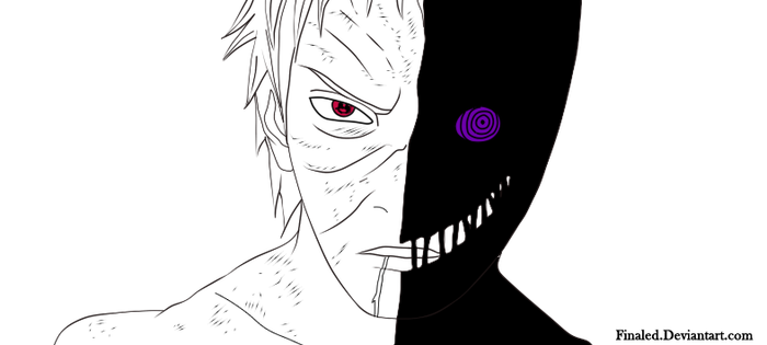 Obito Uchiha Lineart by Finaled