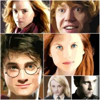 The Golden Trio and Friends - Harry Potter by NyanApocalypseGirl