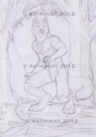 The Hunter sketch- auction by Astrocat
