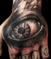 Shattered Eye Tattoo by DanielPokorny