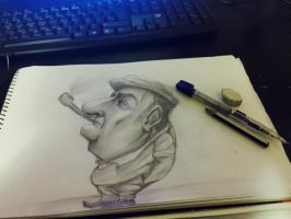 Pablo Neruda sketch by lepeART