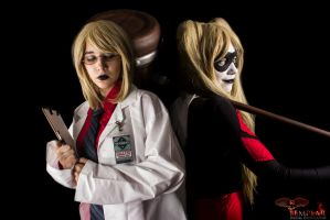 Dr. Harley and Ms. Quinn by MrSnugglez84