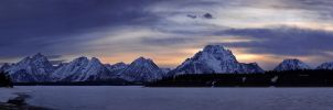 Sunset at Grand Teton by porbital