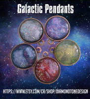 Galactic Pendants by RicePoison