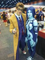 The doctor and Cortana by SpartanJenzii