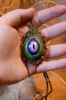 OOAK Monster eye amulet by BeastVoodoo