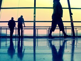 At the airport II by Frenzyy