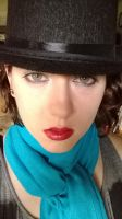 Blue Scarf and a Top Hat 2 by TheREALemoCloud