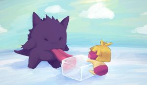 Gengar used lick by izumi07