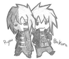 Chibi Ryou and Bakura by DylanIsntHere