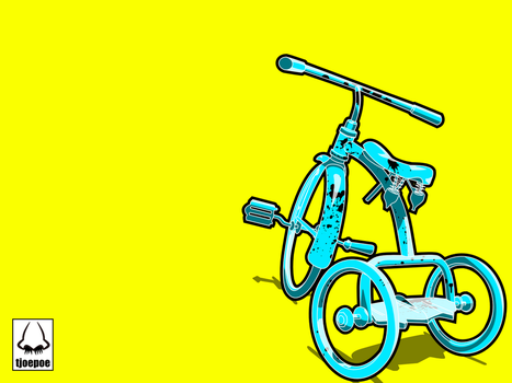 Blue Jelly Tricycle by Tjoepoe
