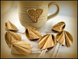 Tea Time Origami Fortune Cookies by Suki-Origami