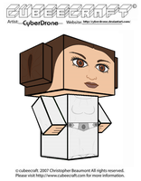 Cubeecraft - Princess Leia by CyberDrone